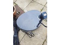 Sky Dish with Cable and HD Box
