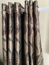 """Eyelet lined curtains-228cms x 228cms (90x90"""" drop)"""