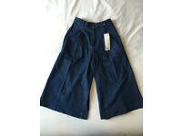 Ladies Uniqlo Culotte Jeans