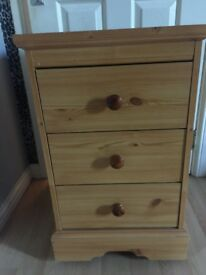 Pine drawers on wheels