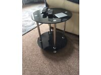 Dark glass coffee table
