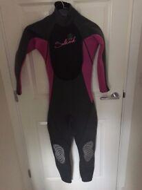 Saltrock S-Flex Wetsuit Pink and Grey Women's Small