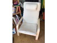 Ikea chair with headrest, basically new!