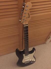 Fender Squier Strat Black Immaculate condition!