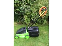 Electric Lawnmower, with detachable grassbox and 20ft extension cable.
