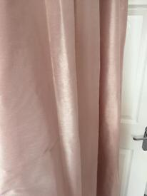 Pink curtains from next