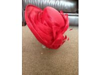 Red hat for wedding or races. Brand new never worn, immaculate