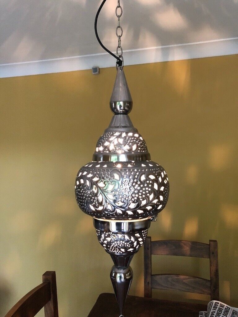 2 Moroccan Lights Large Silver Style Ceiling In Newcastle Tyne And Wear Gumtree