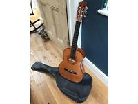 3/4 length guitar with case