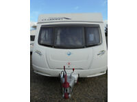 2010 Lunar Clubman ES 4 Berth Touring Caravan With Dinette And Large Rear Washroom