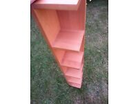 Tall shelf of light wood