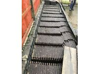 Brown Morley modern cement mix roof tiles approx 400 never been used