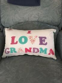 I love grandma cushion