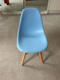 Blue Wooden Childrens Chair