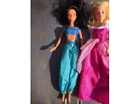 Disney dolls Arora Cinderella and Jasmin
