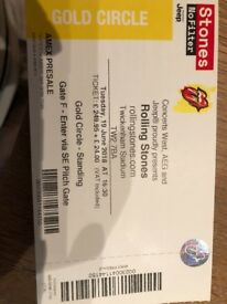 Rollling Stones Tickets Tuesday 19th June 2018 - Gold Circle