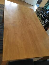 Solid heavy dining table
