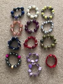 13 x bracelets