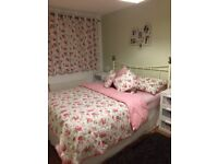 Cath Kidston Pink Spot King Size Duvet Cover with Coordinating Rosali Curtains, Cushions & Bedspread