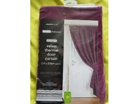 PURPLE VELVET THERMAL DOOR CURTAIN