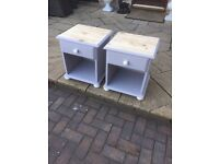 SHABBY CHIC Gorgeous pair of bedside tables ANNIE SLOAN GREY
