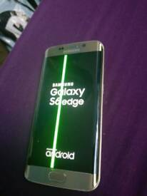 *Samsung Galaxy S6 edge 32gb Unlocked Gold Green line fault