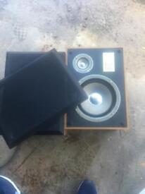 Old stereo speakers retro rare