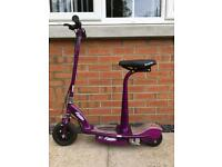 Purple electric scooter