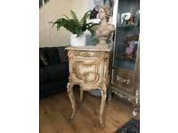 Stunning tall french bedside/ side table💕💕