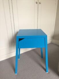 Ikea Blue bedside table.