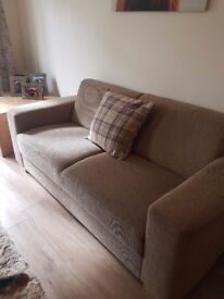 NOW SOLD 2 seater beige sofa