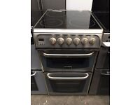 CANNON free standing electric ceramic cooker 50 cm width stainless steel fully working order