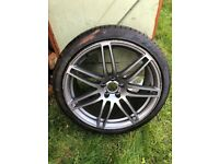 Audi 20 Inch Twin Spoke Alloy Wheel with Brand New Tyre 8mm Unused