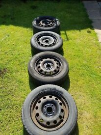 Spare wheels for Focus or Fiesta with tyres