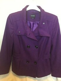 Ladies wool mix coat size 16
