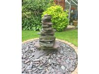 Slate stone water feature