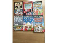 2 horrible science books, 2 horrible geography books and 2 murderous maths books