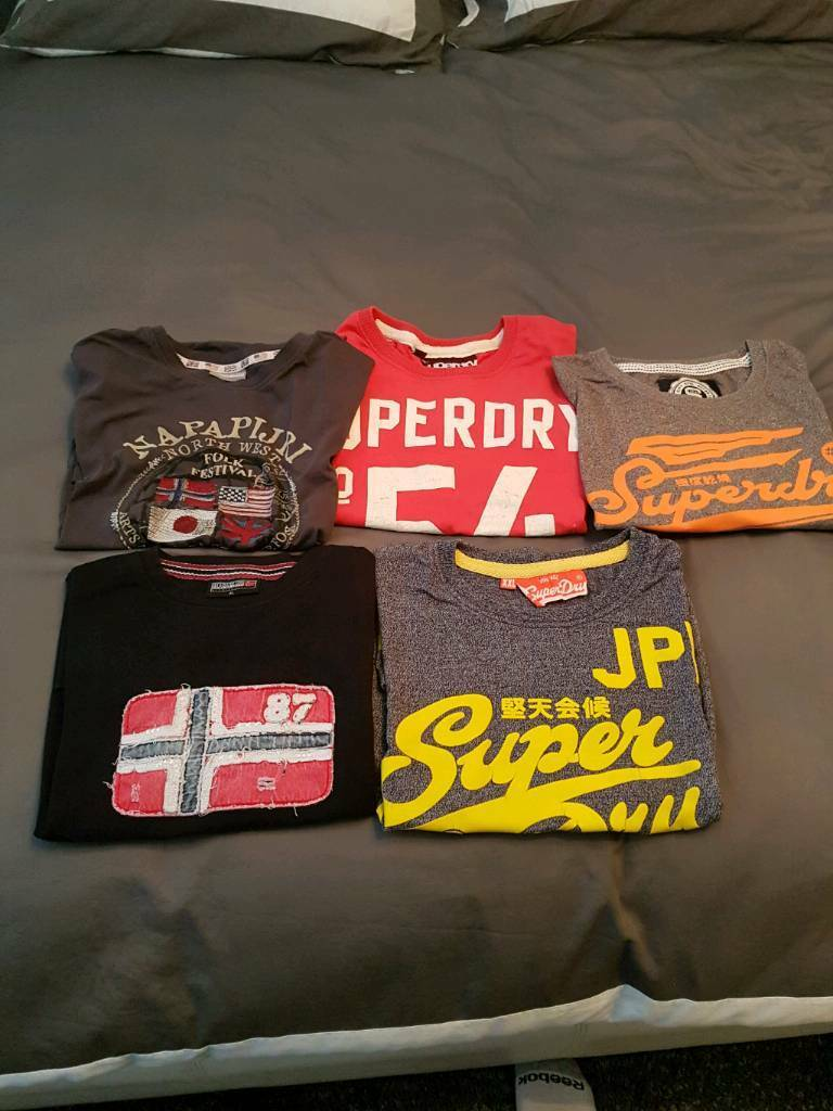 Superdry napapijri t shirts bundle
