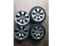 BMW Alloys x4 & Run Flat Tyres x2