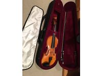 3/4 German handcrafted violin, lovely instrument, excellent condition