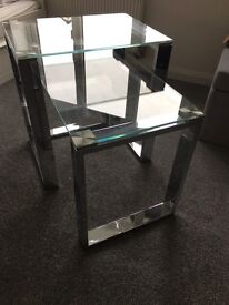 REDUCED Chrome and Glass Nest of Tables