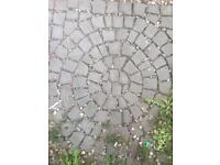 Cobbled carpet stone for garden