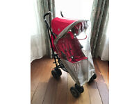 Maclaren Techno XT Single Seat Umbrella Stroller & Rain Cover in Good Condition