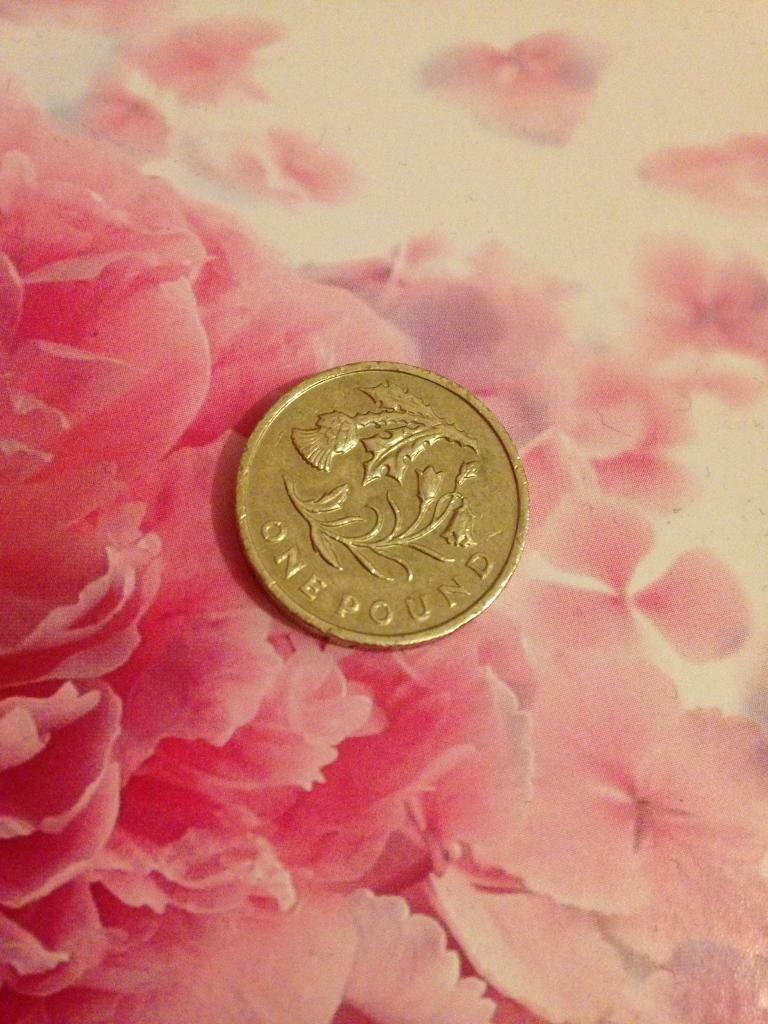 thistle and bluebell pound coin