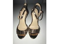 Womans Rose Gold Heels Size 4