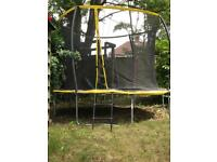 10ft Zero Gravity Ultima Trampoline with safety net, cover and anchor kit.