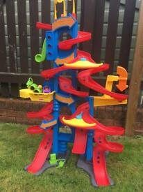 Fisher price kids toy little people skyway track with sounds and phrases and 2 cars. £45 new