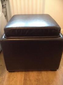 Brown Storage Footstool / Table