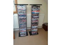 Two DVD Storage Towers plus 150+ dvds