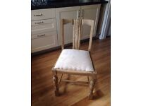 Art Deco Chair, new seat upholstery all in clean VGC. Macclesfield Cheshire.